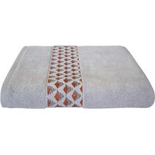 Dyckhoff Frottierserie Pure Elegance silber mit Bordüre Handtuch 50 x 100 cm, 6 Stück