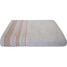 Dyckhoff Frottierserie Pure Elegance silber mit Bordüren Handtuch 50 x 100 cm, 6 Stück
