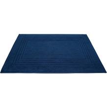 Dyckhoff Frottier-Badvorleger Siena tintenblau 50 x 75 cm, 3 Stück