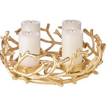 EDZARD Adventskranz Porus gold Ø 30 cm