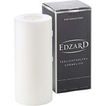EDZARD Teelichthalter Cornelius weiß Ø 8cm