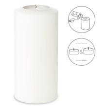 EDZARD Teelichthalter / Kerzenattrappe Cornelius Pine Ø 10 cm / Höhe 21 cm