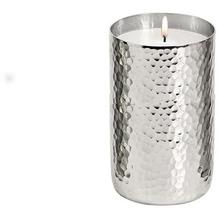 EDZARD Votivlicht m. Wachs Silber H 12 cm
