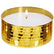 EDZARD Windlicht Ina/Wachs gold H 6 cm