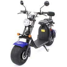 eFlux Chopper Two Elektro Scooter blau mit Straßenzulassung, 1500 Watt 60 Volt