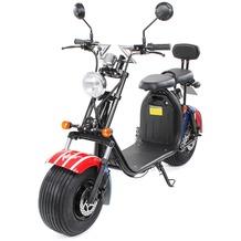 eFlux Harley Two Elektro Scooter US Flag mit Straßenzulassung, 1500 Watt 60 Volt