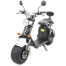 eFlux Chopper Two Elektro Scooter weiss mit Straßenzulassung, 1500 Watt 60 Volt