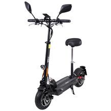 eFlux Lite Six E-Scooter schwarz 1000 Watt mit Straßenzulassung, 40 km/h, verstellbarer Sitz, Lithium-Akku
