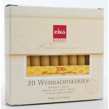 EIKA Baumkerze 100% Bienenwachs 20er-Packung naturgelb H105 x Ø 12,5 mm