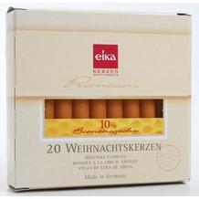 EIKA Baumkerze 10 % Bienenwachs 20er-Packung naturgelb H105 x Ø 12,5 mm