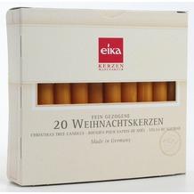 EIKA Baumkerzen, durchgefärbt 20er-Packung naturgelb H095 x Ø 12,5 mm