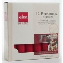 EIKA Pyramidenkerze 12er-Packung rot H100 x Ø 18 mm