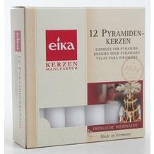 EIKA Pyramidenkerze 12er-Packung weiß H100 x Ø 17 mm
