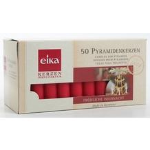 EIKA Pyramidenkerze 50er-Packung rot H70 x Ø 14 mm