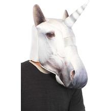 Schaum Einhorn-Maske weiß