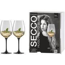 Eisch Secco Flavoured Hugo 500/21 mit schwarzem Fuß, 2 Stk im Geschenkk.