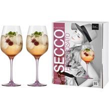 Eisch Secco Flavoured Hugo 500/21p mit pinkem Fuß, 2 Stück im Geschenkk.