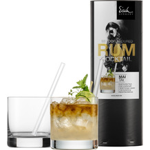 Eisch Secco Flavoured Rumcocktail 500/14 - 2x500/14+2 xGlashalm 996/0 GR