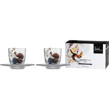 Eisch Superior Sensis plus Espresso 109/6 m. satiniertem Teller,2 Stück in GR