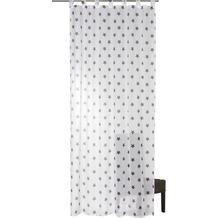 Elbersdrucke Gardine Stars Allover 07 weiß-grau 140 x 255 cm