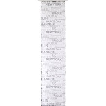 Elbersdrucke Flächenvorhang City 07 schwarz-weiß 60 x 245 cm ohne Paneelwagen