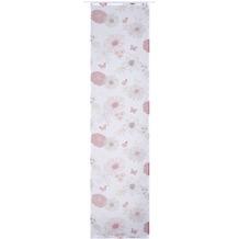 Elbersdrucke Flächenvorhang Flower Mix 04 weiß-r-braun 60 x 245 cm ohne Paneelwagen