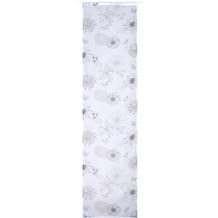 Elbersdrucke Flächenvorhang Flower Mix 07 weiß-schwarz-grau 60 x 245 cm ohne Paneelwagen