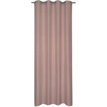 Elbersdrucke Gardine Lino rosa 140 x 255 cm