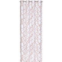 Elbersdrucke Ösenschal Crossover 05 weiß-orange 140 x 255 cm