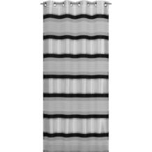 Elbersdrucke Ösenschal Horizon 07 schwarz-weiß 140 x 255 cm