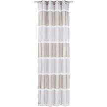Elbersdrucke Ösenschal Prisma 06 braun-grau 140 x 255 cm