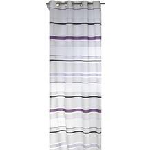 Elbersdrucke Ösenschal Skyline 10 weiß-violett 140 x 255 cm