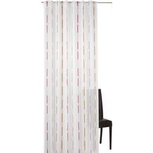 Elbersdrucke Schlaufenbandschal Calypso 04 weiß-pink-orange 140 x 255 cm