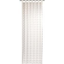 Elbersdrucke Schlaufenschal Karo-Voile 00 weiß 140 x 255 cm