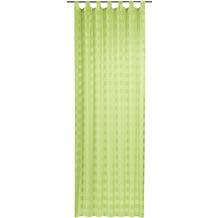 Elbersdrucke Schlaufenschal Karo-Voile 03 grün 140 x 255 cm