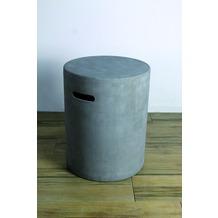 Elementi Abdeckung für Gasflaschen, Beton-Optik grau Faser-Beton,für 5kg Gasbehälter