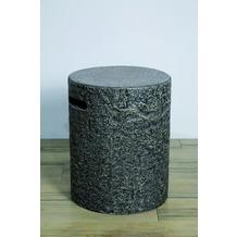 Elementi Abdeckung für Gasflaschen, Naturstein-Optik dunkel Eco-Stone,für 5kg Gasbehälter