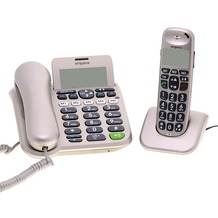 Emporia D40ABB Großtastentelefon-Set, silber-grau
