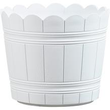 emsa Blumenkübel COUNTRY, Weiß, Ø 24 cm