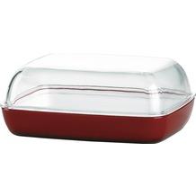 emsa Butterdose VIENNA, Transparent/Rot, 13,50 x 10,00 x 5,50 cm