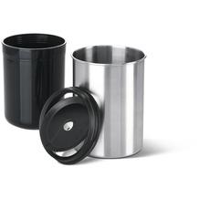 emsa City Bin Tisch-Abfallbehälter, Edelstahl/schwarz, 11,5 x 16,6 cm