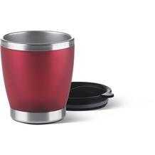 emsa City Cup Isolierbecher, Edelstahl/rot, 0,2l
