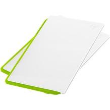 emsa Click&Cut Schneidbrett 2er Set, weiß/grün, 2 x 29x20 cm 2 x 29x20 cm