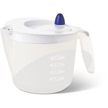 emsa Salatschleuder mit Maßeinteilung FIT & FRESH, Transparent/Weiß, 2,00 Liter