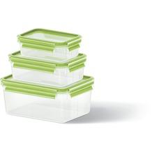 emsa Frischhaltedose CLIP & CLOSE 3er Set, 0,55 / 1,00 / 2,30 Liter, Grün