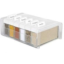 emsa Gewürzregal SPICE BOX Gewürz-Kartei mit 6 Gewürzen, Weiß, 0,075 Liter