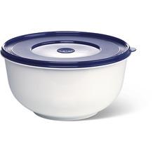 emsa Hefeteigschüssel mit Deckel SUPERLINE, Weiß/Blau, 5,00 Liter