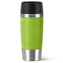 emsa Isolierbecher MIT GRAVUR - OBEN - (z.B. Namen) TRAVEL MUG Manschette limette grün 360ml