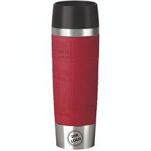 emsa Isolierbecher MIT GRAVUR (z.B. Logo) TRAVEL MUG Grande XXL Manschette Rot 500ml