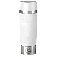 emsa Isolierbecher MIT GRAVUR (z.B. Logo) TRAVEL MUG Grande XXL Manschette Weiß 500ml